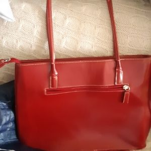 Handbags - Red leather shoulder purse slightly worn on the bo